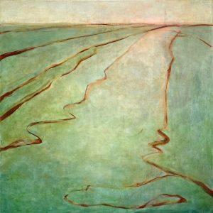 Landscape as a memory, 2020, olie op linnen 90x90 cm