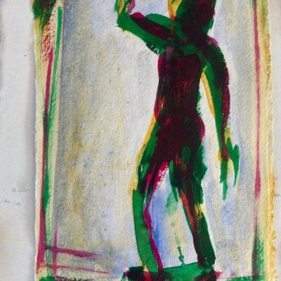 puber, acryl op papier, A5