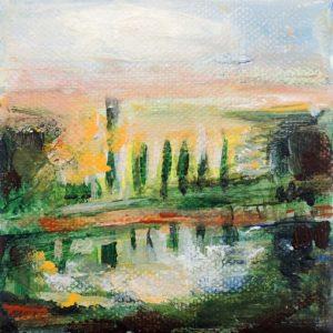landschap, acryl (hangt bij Goedman), 2015