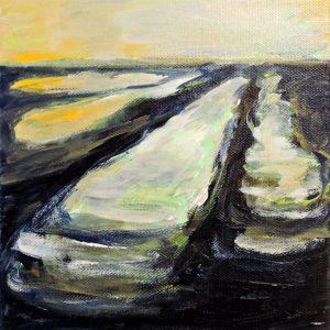 voren, acryl op doek, 2014 (bij Els de Hullu)